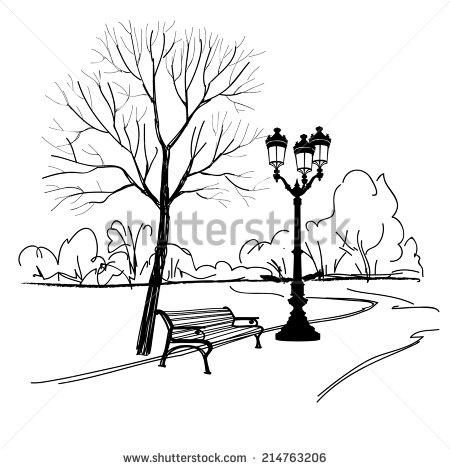 450x469 Park Sketch Morning Walk