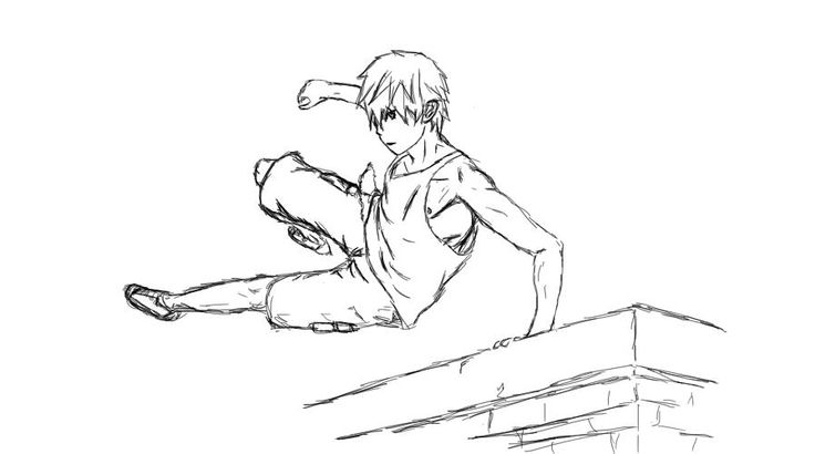 736x410 Parkour Sketch By Finnbadass On Homeschool Art