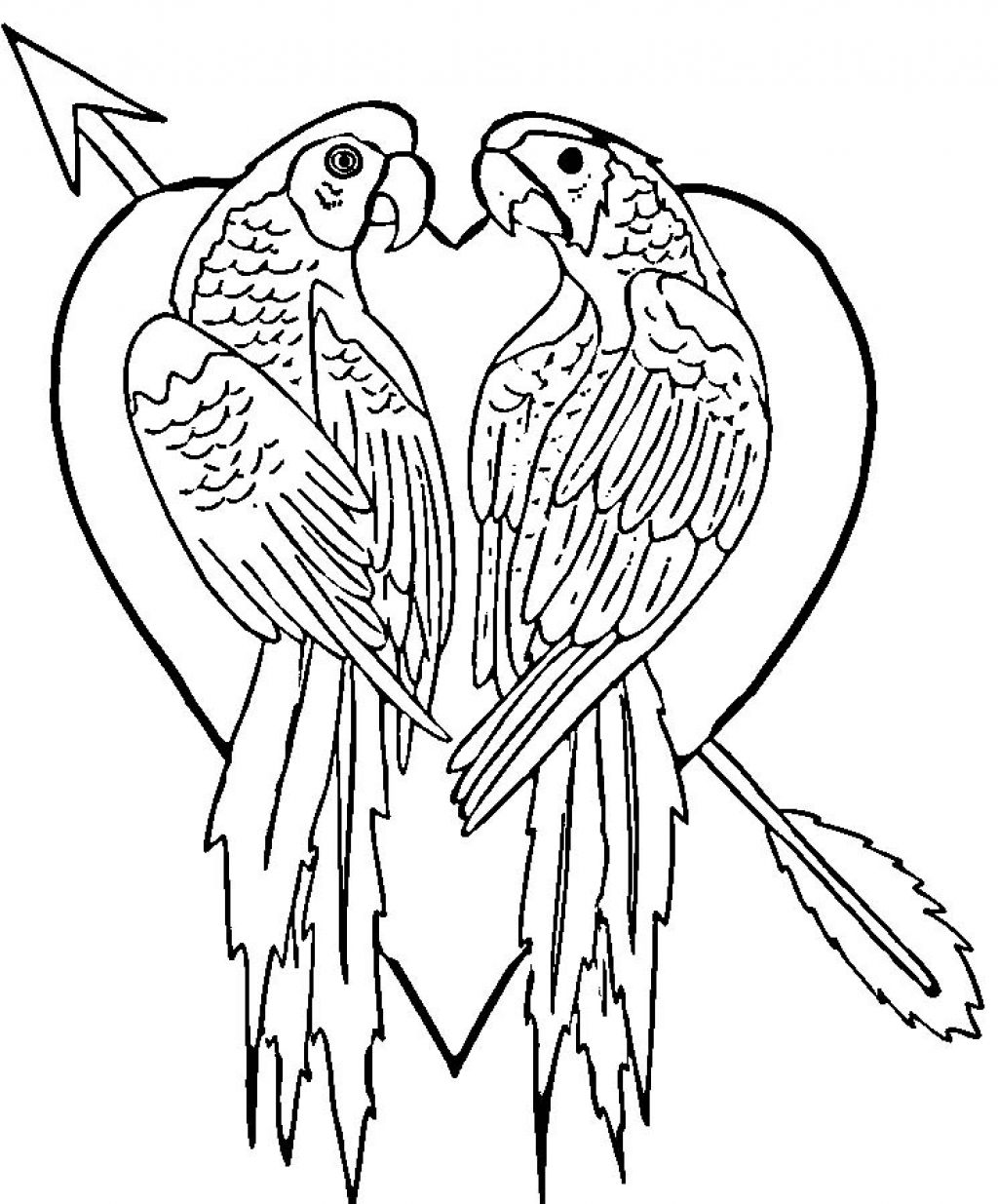 1024x1235 Parrot Coloring Pages Free For Kids With Parrot Coloring Pages