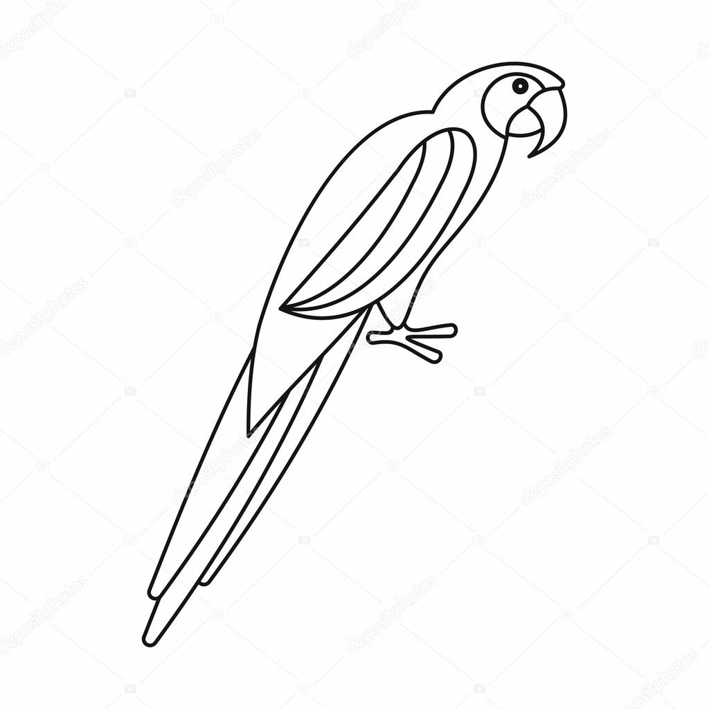 1024x1024 Parrot Icon, Outline Style Stock Vector Ylivdesign