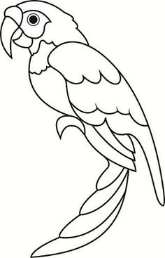236x367 Parrot Pattern. Use The Printable Outline For Crafts, Creating