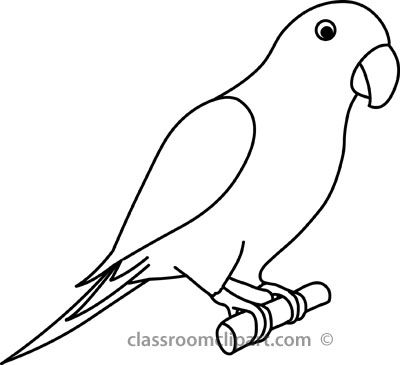 400x365 Awesome Bird Outline Clipart