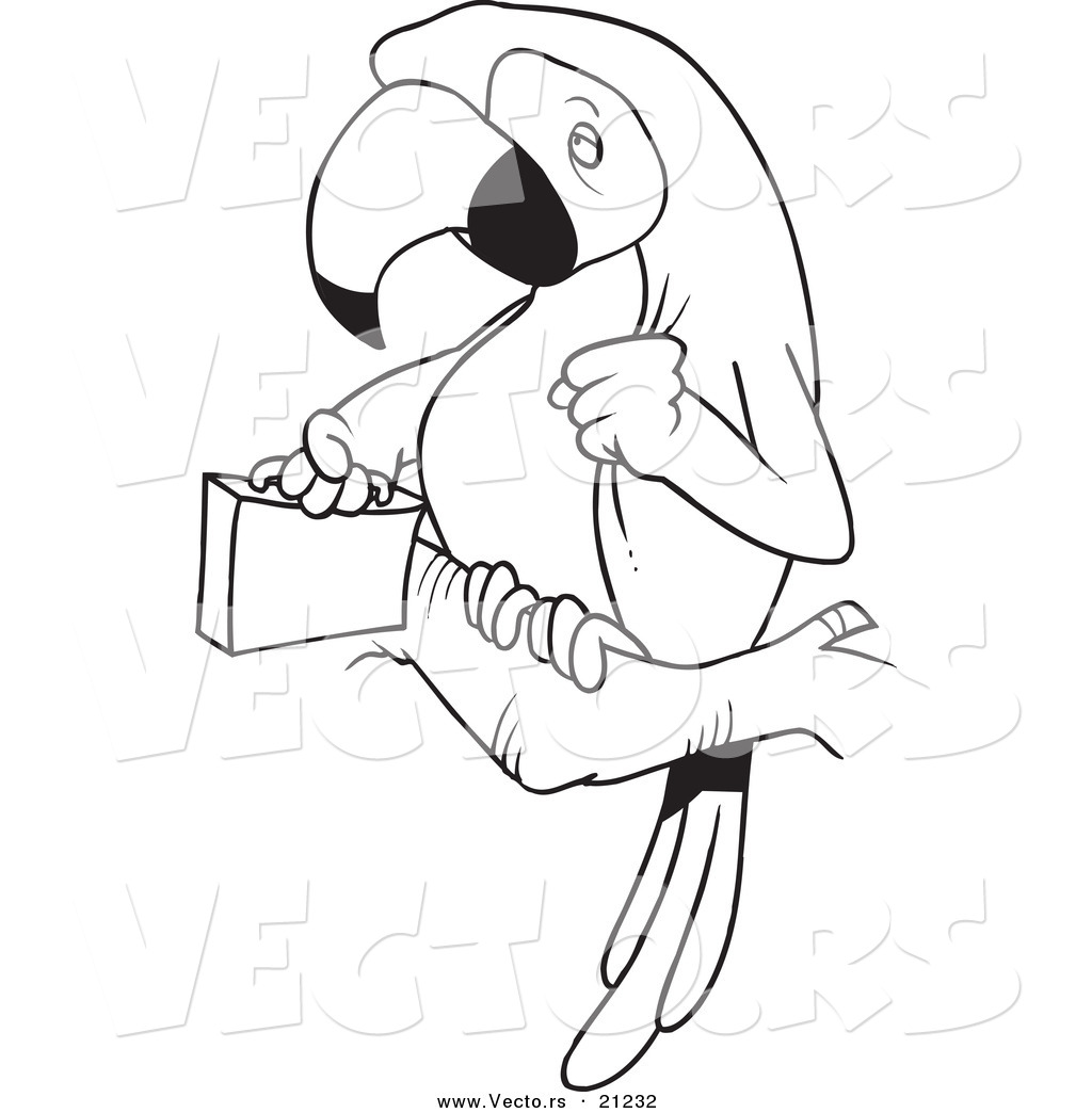 1024x1044 Vector Of A Cartoon Parrot Legal With A Briefcase