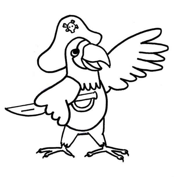 coloring pages pirate parrot - photo#5