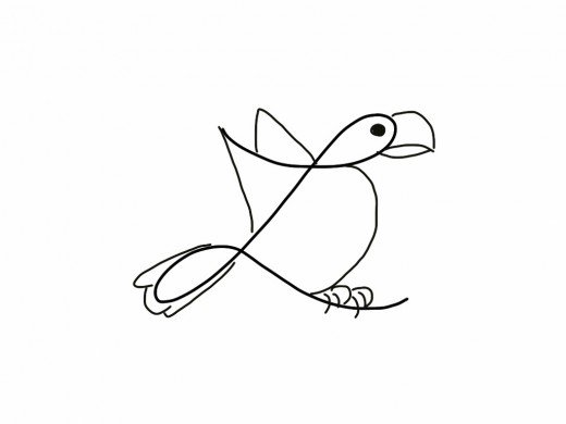 520x390 How To Turn A Cursive L Into A Bird Drawing Hubpages