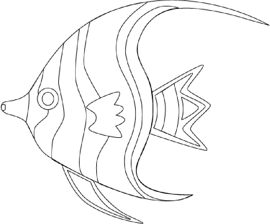 875x728 Tropical Fish Coloring Pages