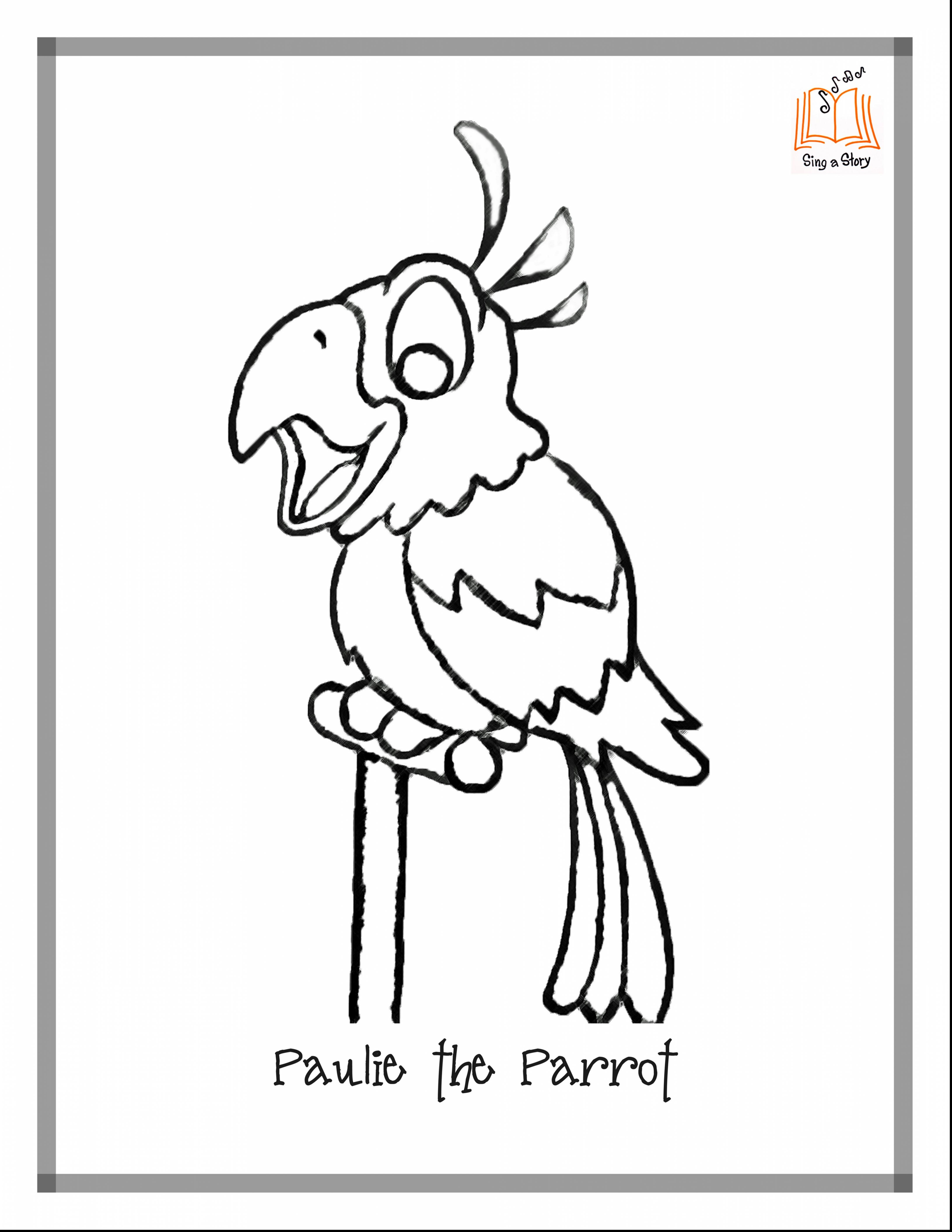4352x5632 outstanding pirate parrot coloring page with parrot coloring pages