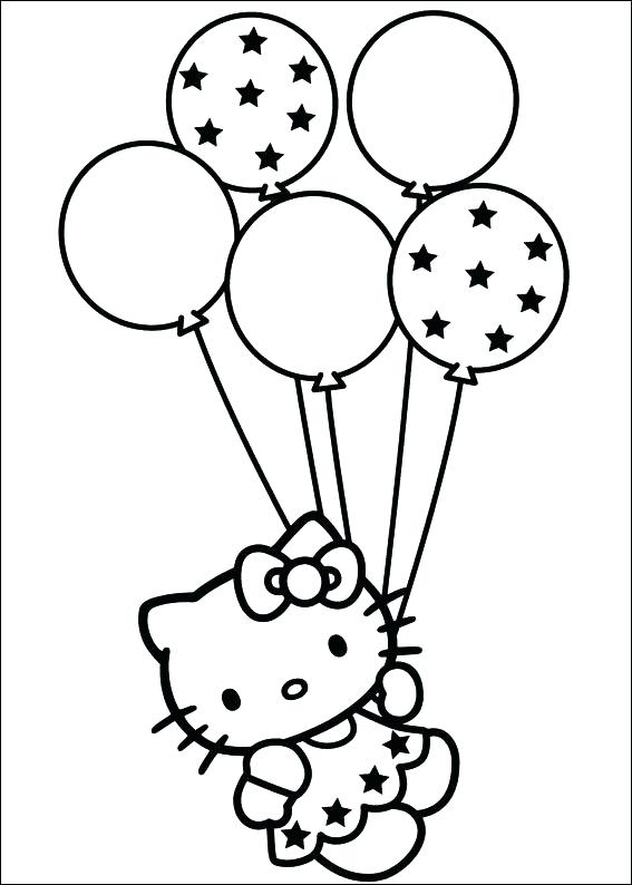 567x794 Coloring Pages Of Balloons Coloring Pages Of Balloons Coloring