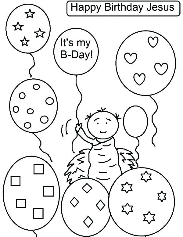 600x777 Happy Birthday Balloons Coloring Pages Birthday Balloons Coloring
