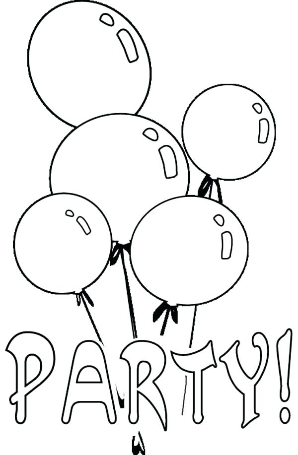 600x917 Balloons Coloring Page