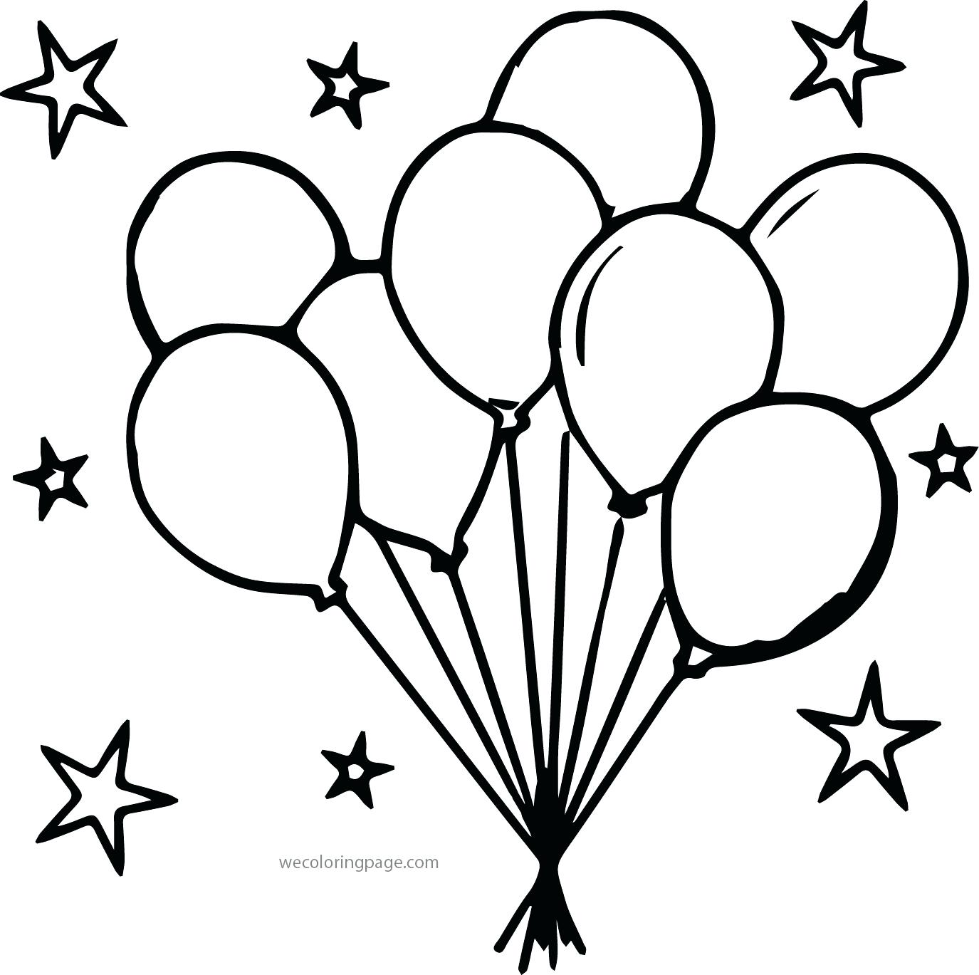 free birthday balloon coloring pages - photo#32