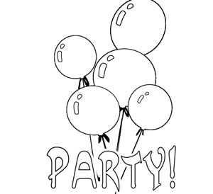 300x274 Word Party Coloring Pages