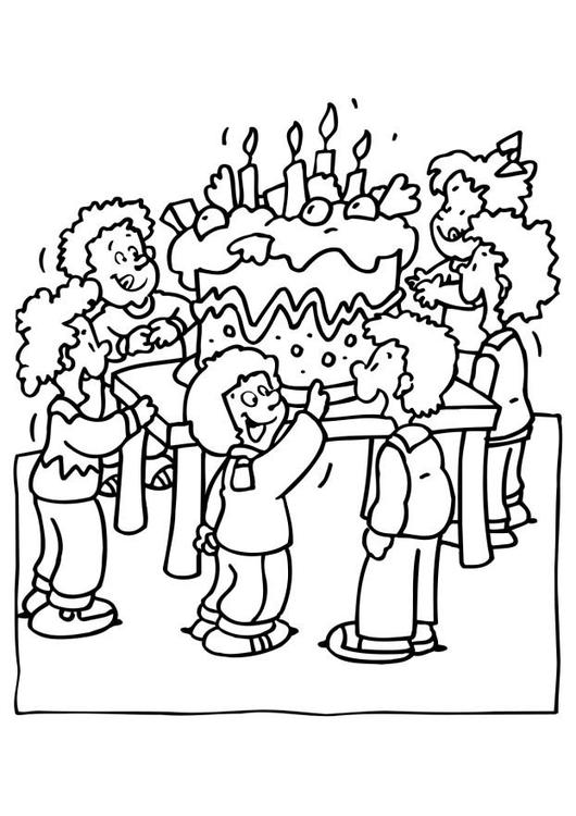 530x750 Coloring Page Birthday Party