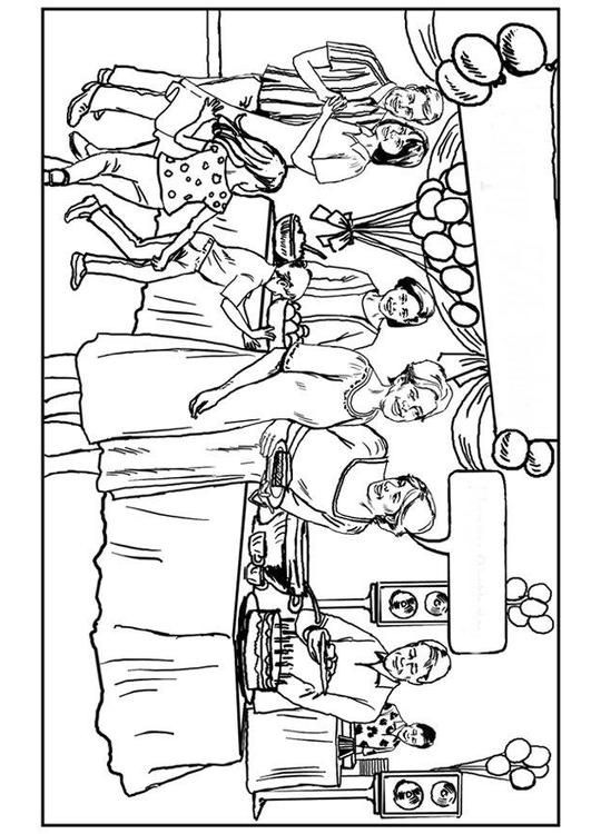 531x750 Coloring Page Birthday Party