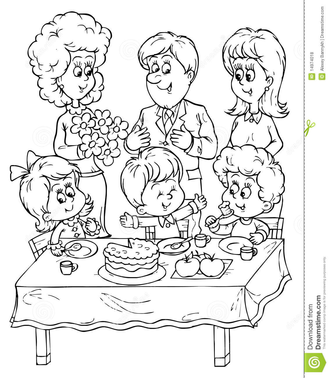 1135x1300 Drawing Pictures Of Birthday Party Birthday Party Stock