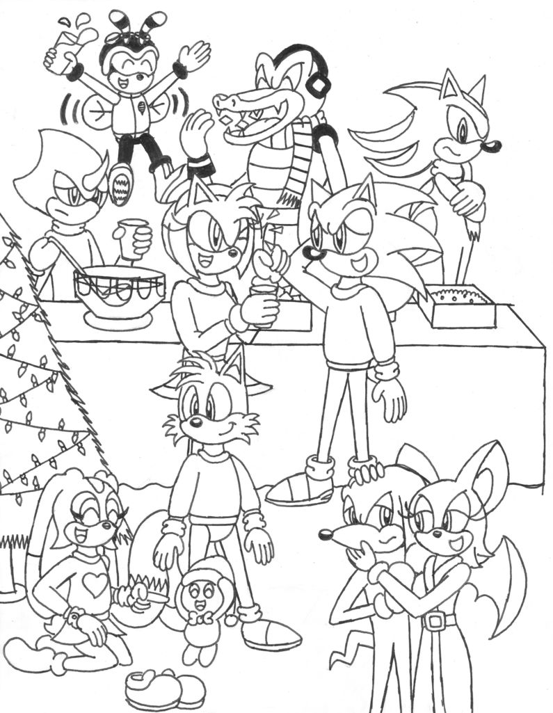 795x1025 Sonic Christmas Party By Caseydecker