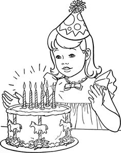 236x299 Birthday Drawings Coloring Birthday Party