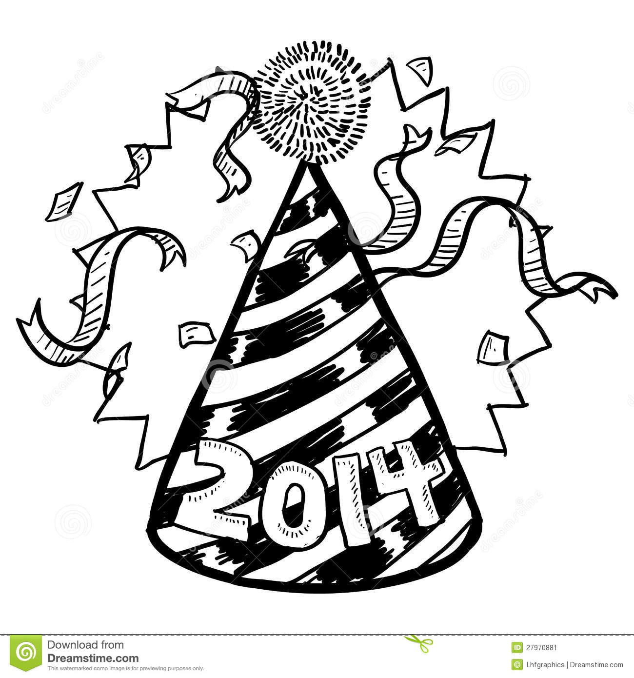 1300x1390 Party Hat New Year Drawings Merry Christmas Amp Happy New Year