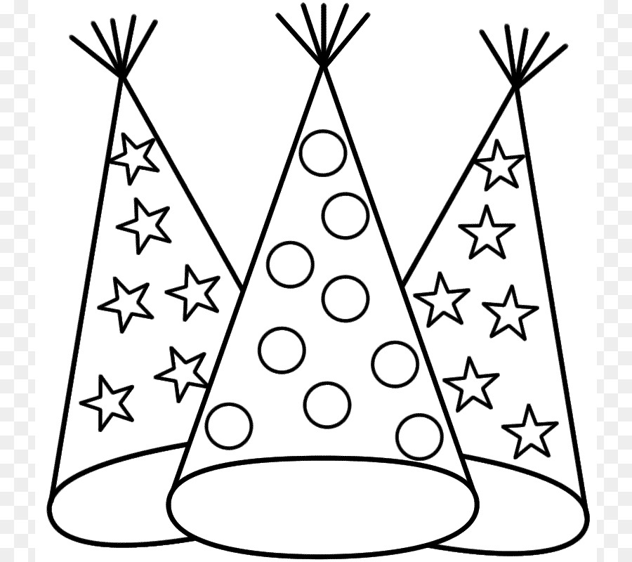 900x800 New Years Eve Coloring Book New Years Day Party Hat