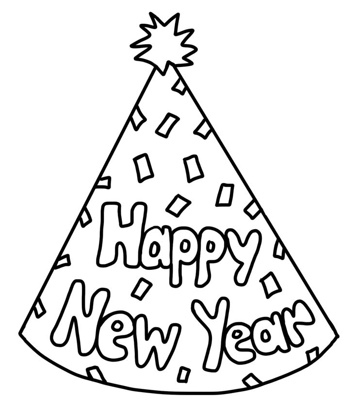 736x855 Party Hat New Year Drawings Merry Christmas Amp Happy New Year