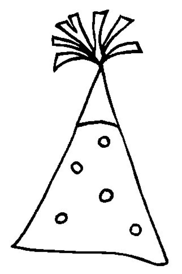 640x962 Birthday Hat Coloring Pages