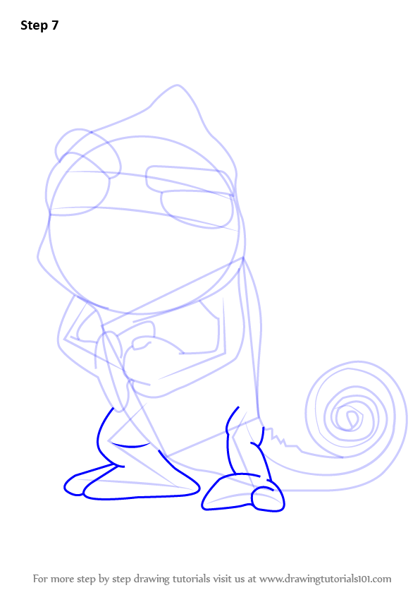 596x843 Learn How To Draw Pascal From Tangled (Tangled) Step By Step