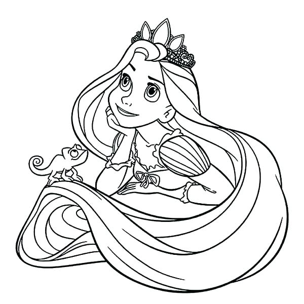 600x600 Pascal Tangled Coloring Pages Printable Coloring Pages Online