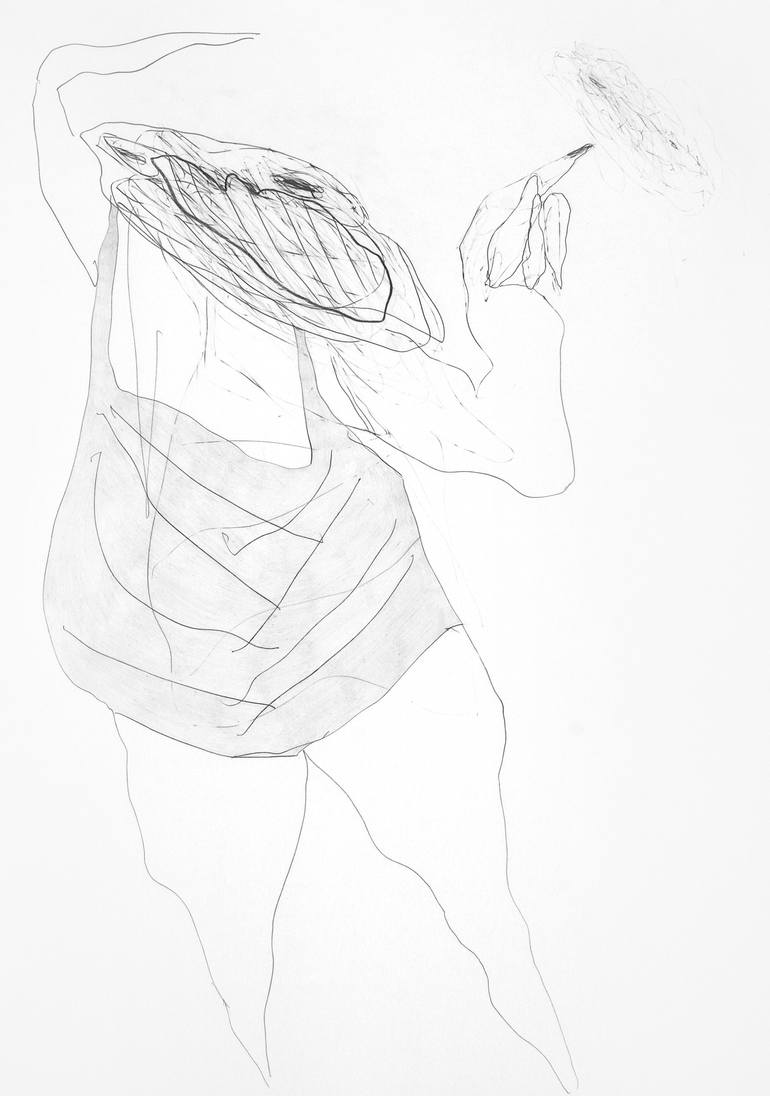 770x1096 Saatchi Art Ballerinatroll (Ballerina Troll) Drawing By Tamburyn