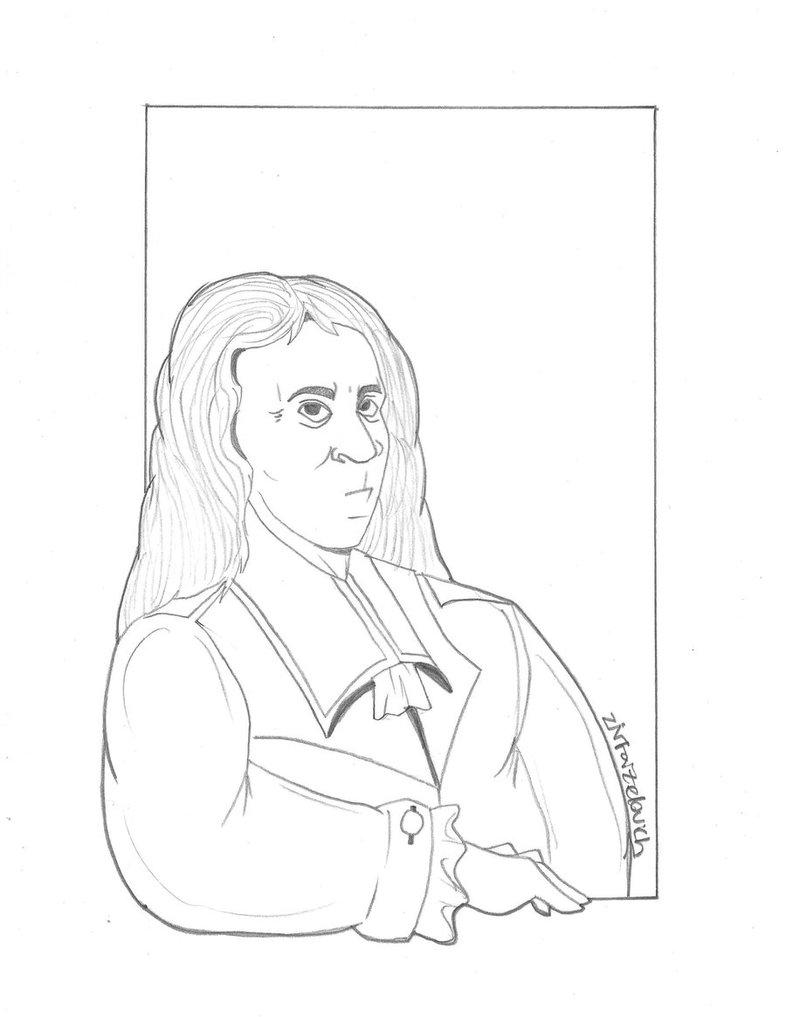 786x1017 Blaise Pascal (Drawing) By Creativ Ziv