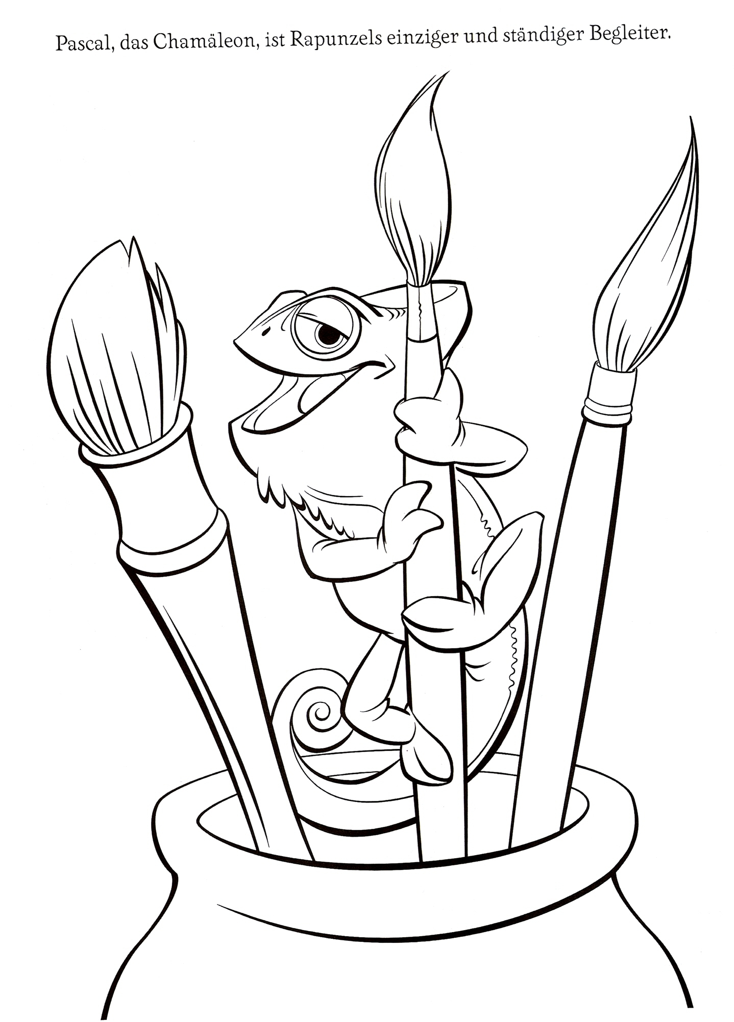 1438x2002 Tangled Pascal Coloring Pages