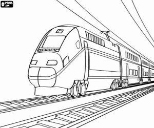 Passenger Train Drawing