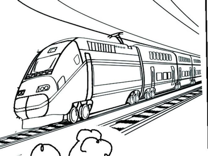 Passenger Train Drawing At Getdrawings Com