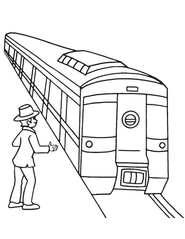 612x792 Passenger Waiting For Metro Coloring Page Download Free
