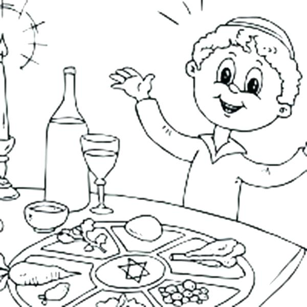600x600 Seder Plate Coloring Page Coloring Pages For Celebrating Day