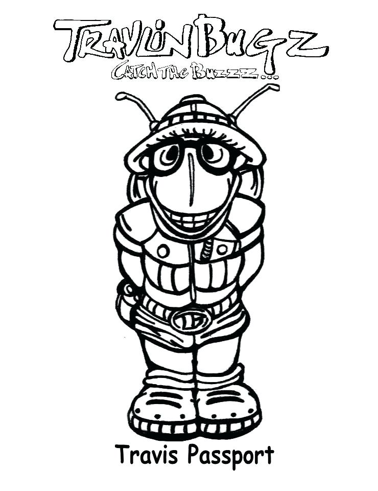 740x960 Simple Passport Coloring Page Kids Pages Free