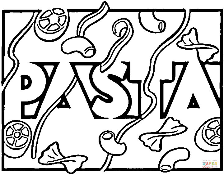 720x564 Italian Pasta Coloring Page Free Printable Pages