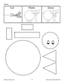 270x350 Cutpastedraw Elephant By Evan Moor Educational Publishers Tpt