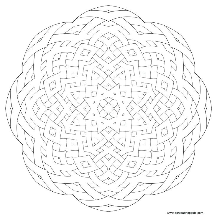 736x736 Mandala To Color Eat The Paste Patterned Mandalas To Color Mandala