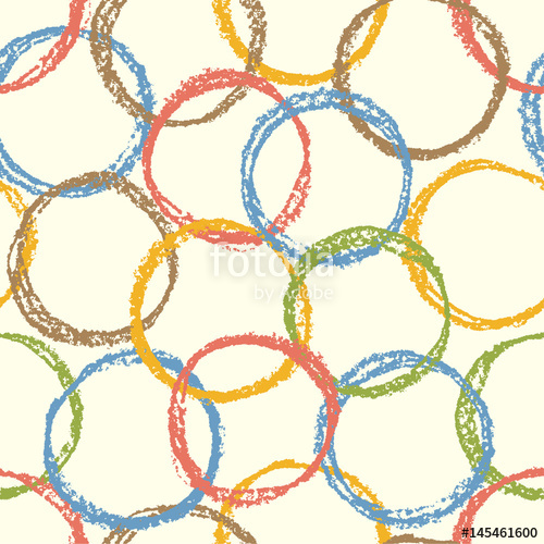 500x500 Seamless Pattern With Colorful Round Forms. Repeat Circle Figure