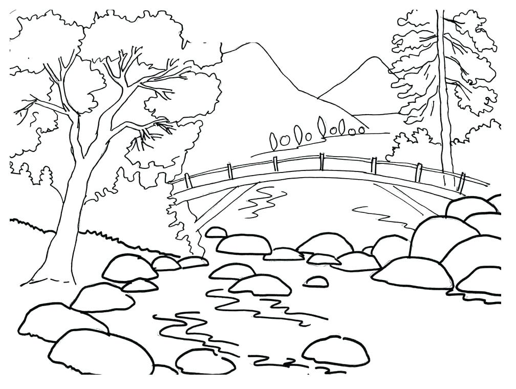 1008x760 Simple Landscape Drawing For Kids Flyingangels.club