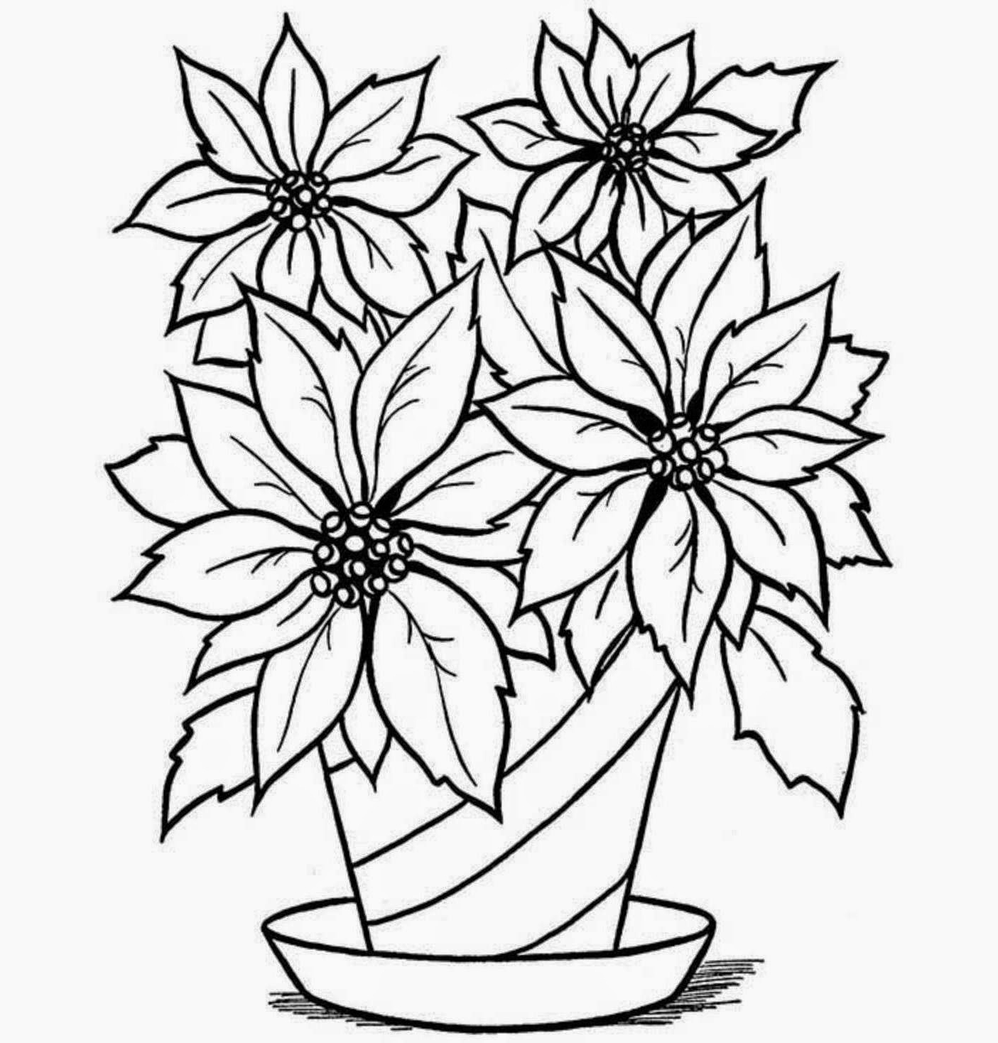 1405x1468 50 New Flower Vase Drawing