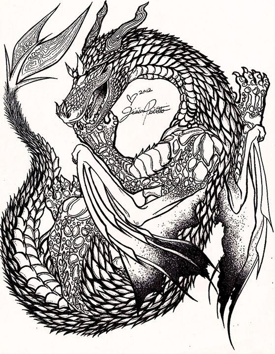 559x720 Dragon Stipple