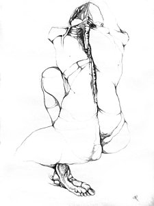 225x300 Nude Pastel Drawings