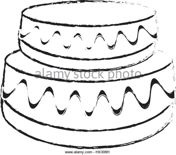 614x540 Drawing Cake Pastry Cream Black And White Stock Photos Amp Images