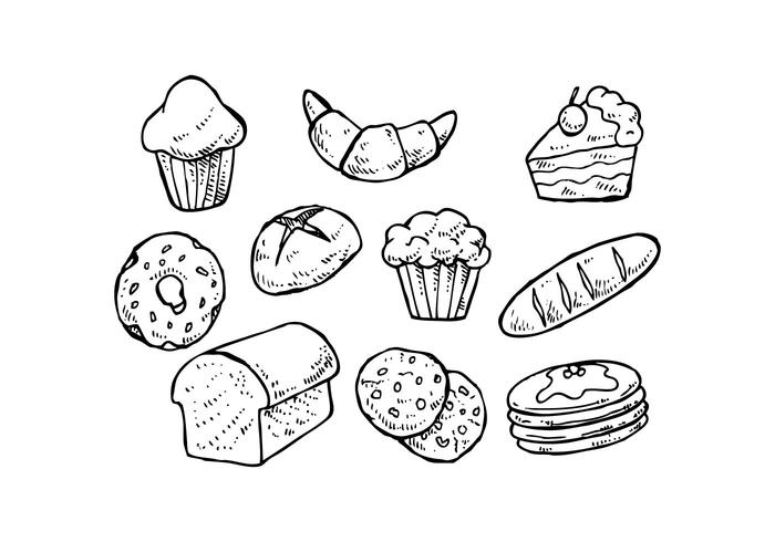 700x490 Free Pastry Hand Drawn Icon Vector