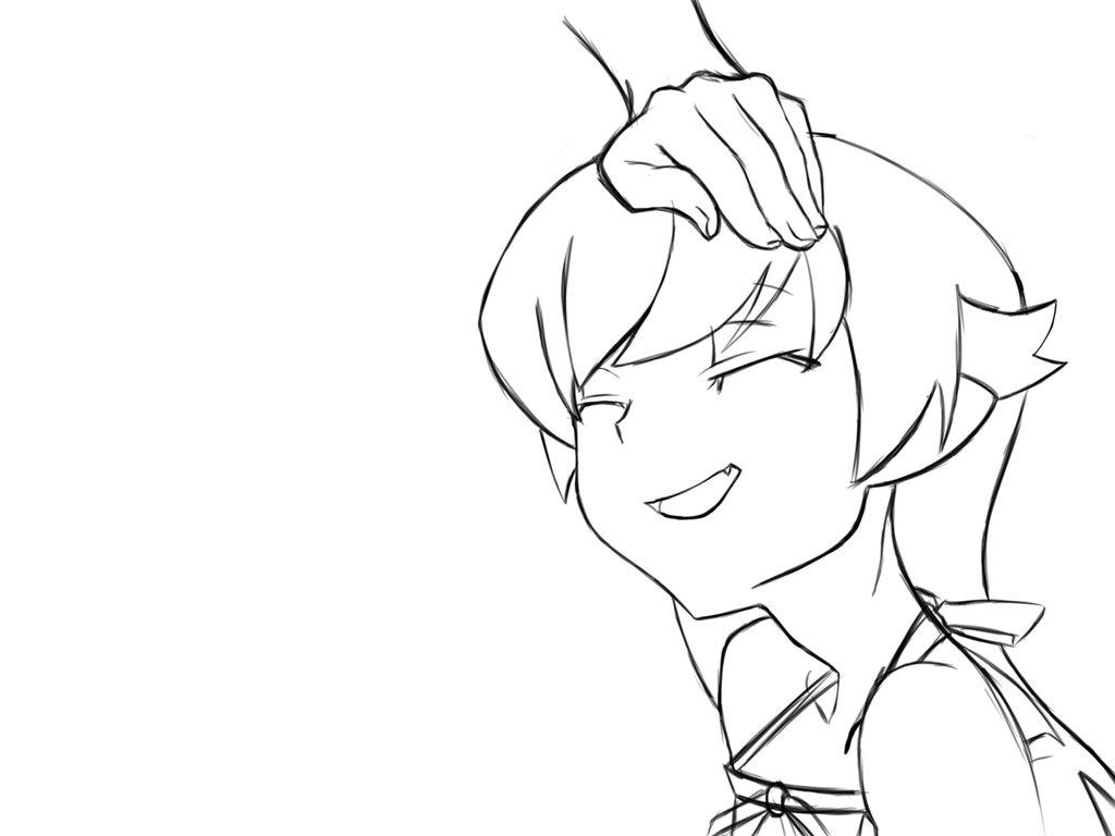1024x768 Shinobu Head Pat Sketch By Belial Aensland