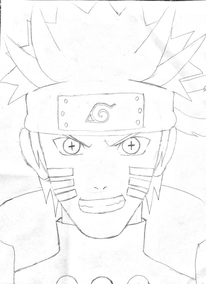 800x1101 How To Draw Uzumaki Naruto (Sage Of Six Path)