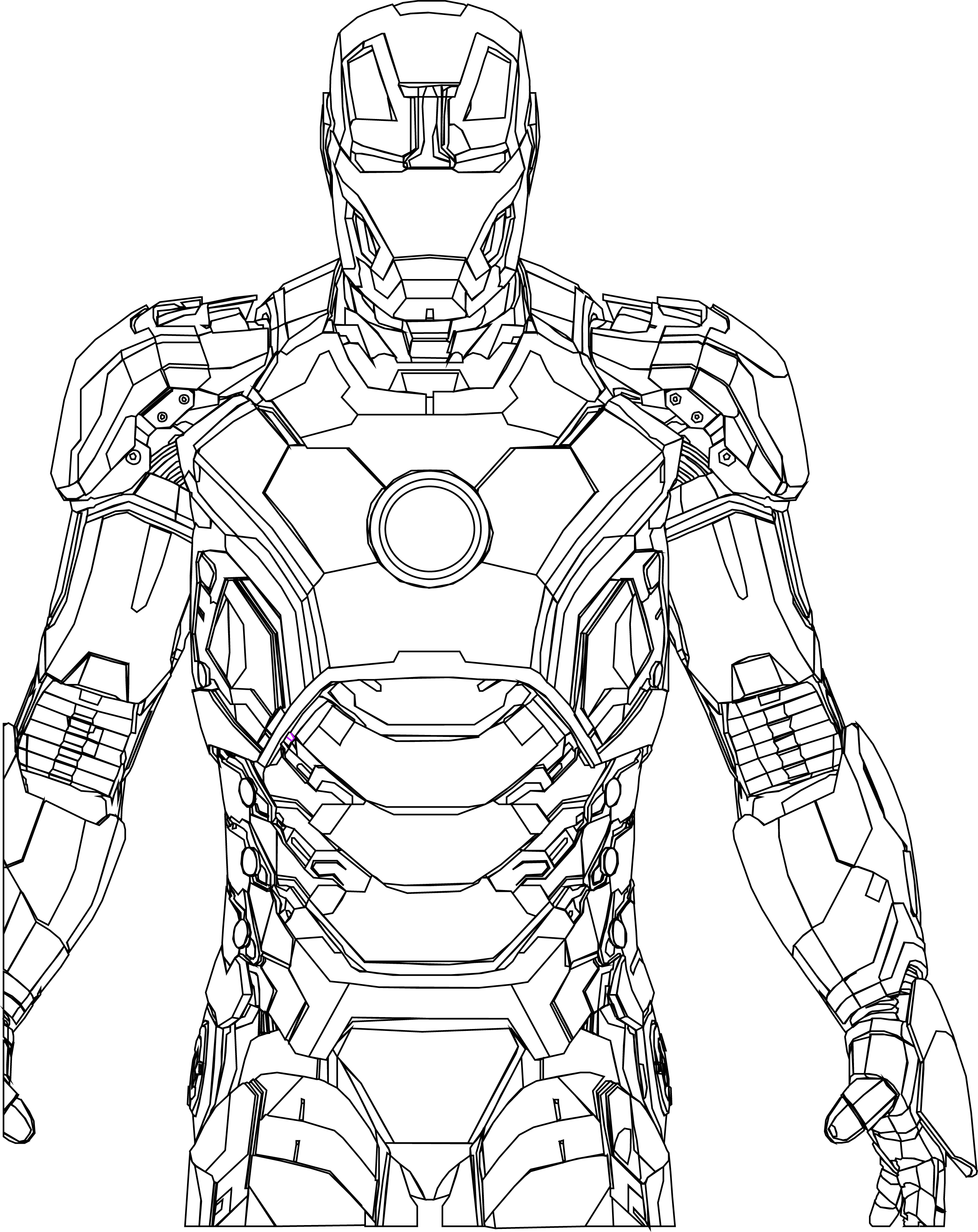 2547x3210 Iorn Man Vector Drawing Path Turned Black By Random Kell