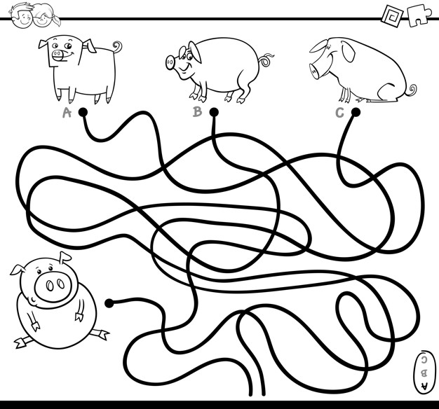 626x584 Path Game Coloring Page Vector Premium Download