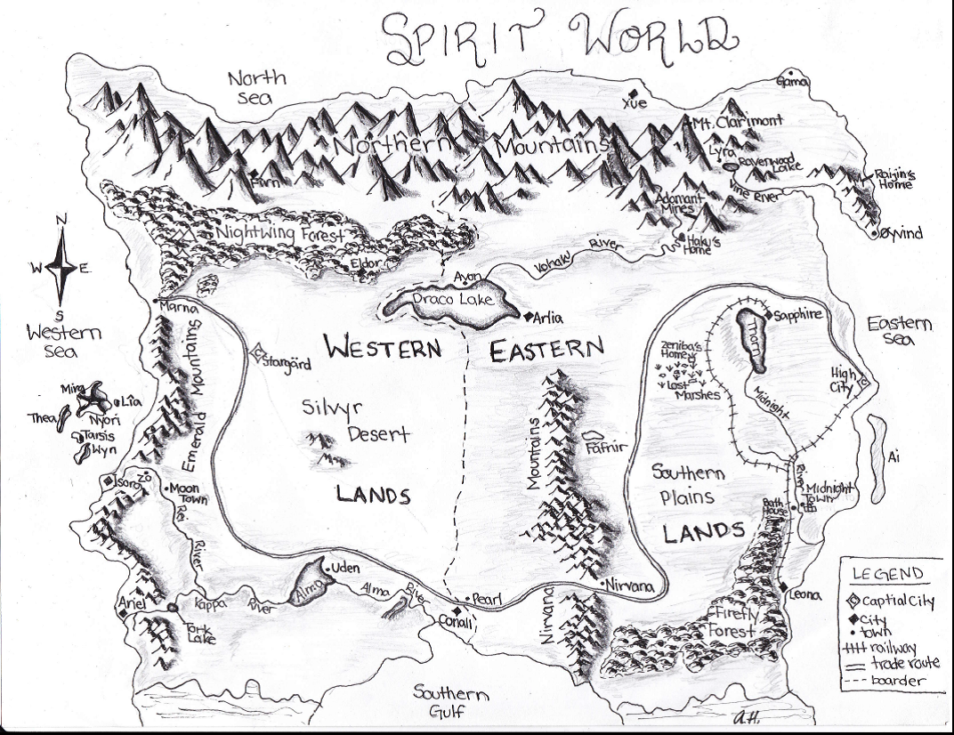 1072x826 The Path Of Water Spirit World Map By Decembersapphire9